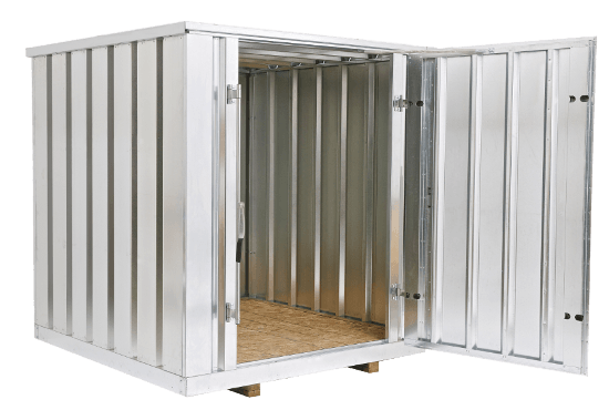 Portable Steel Storage Units : Portable steel storage containers metal sheds shed kits