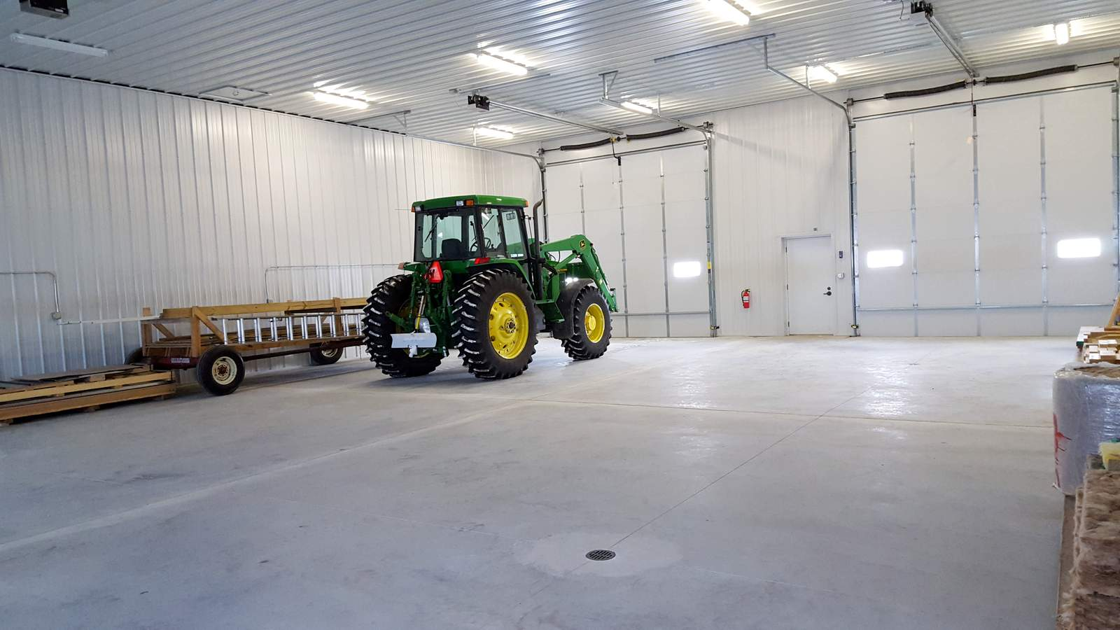 Tractor in Heated Warehouse Space